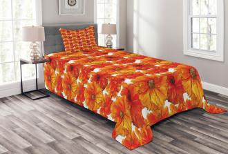 Antique Bohemian Poppies Bedspread Set