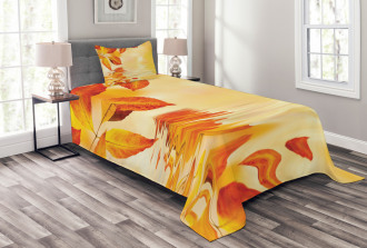 Magical Sun View Leaves Bedspread Set