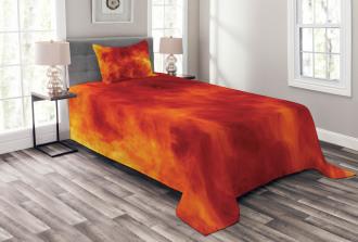 Fire and Flames Design Bedspread Set