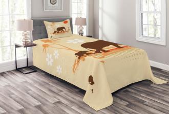 Safari Tropical Lands Bedspread Set