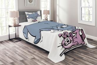 Rabbit Mascot Animal Bedspread Set