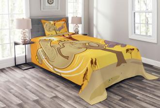 Elephant and Hippo Ball Bedspread Set