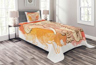Eastern Elephant Pattern Bedspread Set