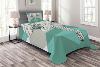 Minimalist Boho Elephant Bedspread Set