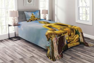 Thai Religious Flower Bedspread Set