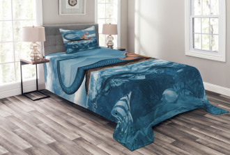 Mythical Sea Goddess Bedspread Set