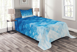 Mosaic Triangle Graphic Bedspread Set
