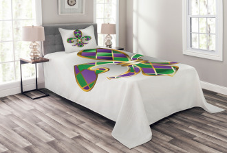Lily Symbol Royalty Bedspread Set