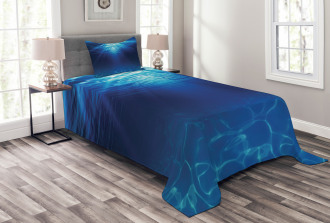 Sandy Seabed Sea Scene Bedspread Set