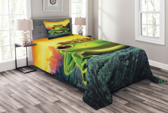 Frog Prince with Crown Bedspread Set