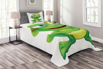 Crown Frog Prince Bedspread Set