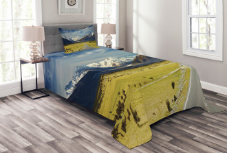 Snowy Mountains Alps Bedspread Set