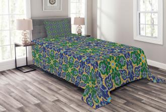 Arabic Oriental Damask Bedspread Set