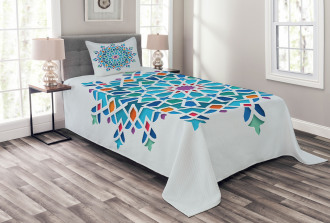 Ethnic Asian Damask Bedspread Set