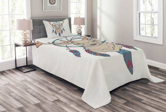 Ethnic Native American Bedspread Set