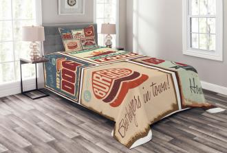 Retro Mexican Tin Sign Bedspread Set