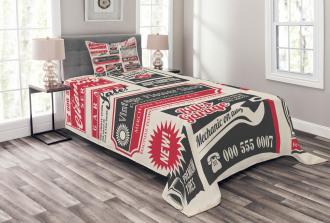 News Magazine Design Bedspread Set