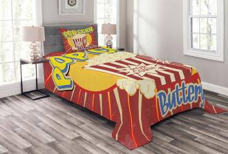 Pop Corn Movie Snack Bedspread Set