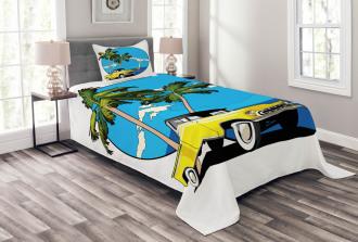 Nostalgic Chevy Car Bedspread Set