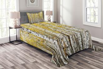 Forest Golden Leaves Bedspread Set
