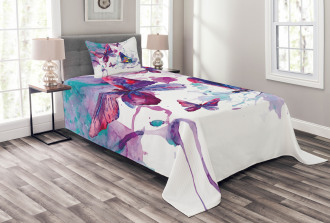 Watercolor Art Modern Bedspread Set