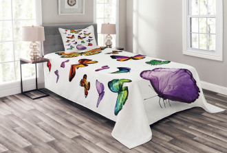 Flying Butterflies Bedspread Set