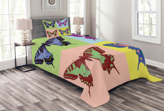Pop Art Swallowtail Bedspread Set