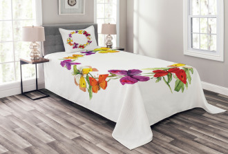 Butterfly with Herbs Bedspread Set