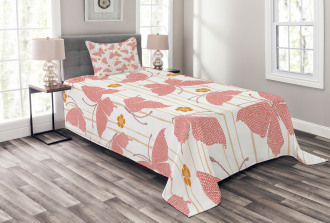 Flower Dots Artful Bedspread Set