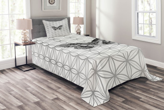 Geometric Butterfly Bedspread Set