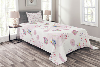 Romantic Spring Retro Bedspread Set