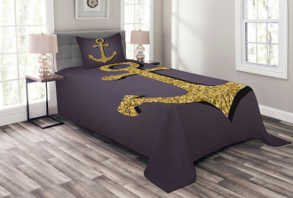 Anchor Pattern Tranquil Bedspread Set