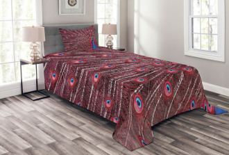 Peacock Bird Surreal Bedspread Set
