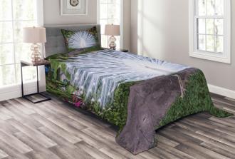 Tropical Garden Feather Bedspread Set