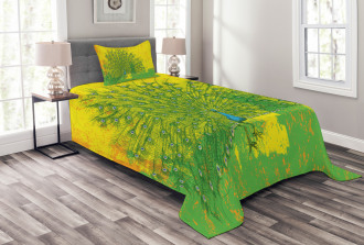 Grunge Peacock Birds Bedspread Set