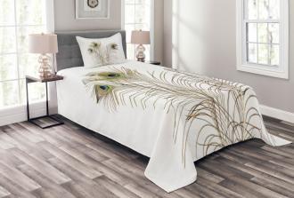 Turquoise Minimalistic Bedspread Set