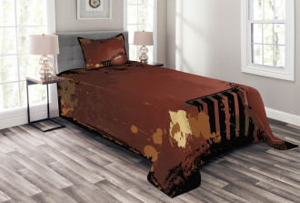 American Football Art Bedspread Set