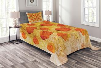 Grunge Rose Floral Art Bedspread Set