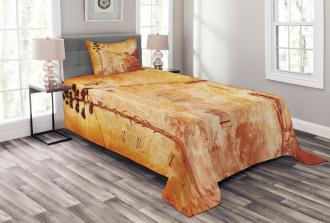 Retro French Street Bedspread Set