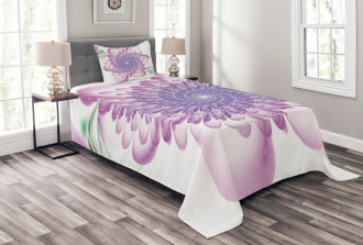 Floral Harmonic Spirals Bedspread Set