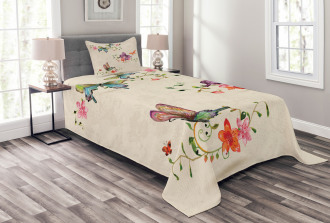 Wings Moth Transformation Bedspread Set