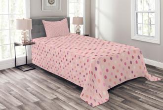 Romantic Polka Dots Bedspread Set