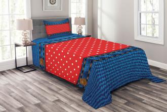 Jean Pockets Polka Dots Bedspread Set