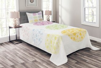 Polka Dots and Rounds Bedspread Set