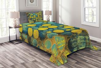 Groovy Polka Dots 60s Bedspread Set
