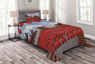 Chinese New Year Festive Bedspread Set
