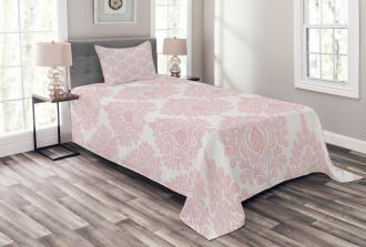 Pink Victorian Pattern Bedspread Set