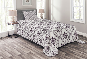 Small Flowers Leaves Bedspread Set