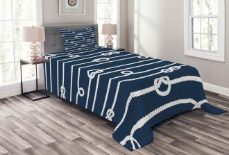 Sailor Knots Marine Bedspread Set