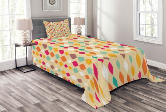 Retro Colorful Circles Bedspread Set
